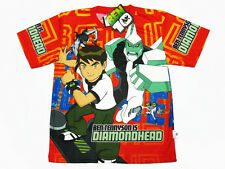 Ben 10 Boy Kid Orange Polyester T-Shirt #2209-01 Diamondhead Size XS age 3-4