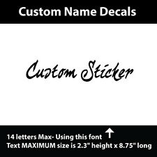 MINDCRAFT CUSTOM Vinyl lettering for any smooth surface, crafts, cars, truck
