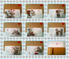 ☆ME TO YOU☆TATTY TEDDY☆Love Message KEEPSAKE CARD & Envelope☆VALENTINES DAY☆01