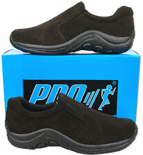 Mens New Black Suede Leather Casual Slip On Shoes Size 6 7 8 9 10 11 12 13 14