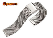 TOP GRADE 316L STAINLESS STEEL MESH BRACELET SHARK METAL STRAP FOR SEIKO WATCHES