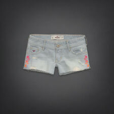 HOLLISTER WOMEN'S EMBROIDERED DESTROYED SHORTS SIZE 9