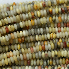 """Wholesale Natural Genuine Yellow Crazy Lace Agate Jewelry Loose Beads 2x5mm 16"""""""