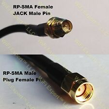 USA-CA RG316 RP-SMA FEMALE to RP-SMA MALE Coaxial RF Pigtail Cable