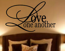 LOVE ONE ANOTHER Vinyl Decal Sticker Word Art Home Decor Saying Religious NEW!