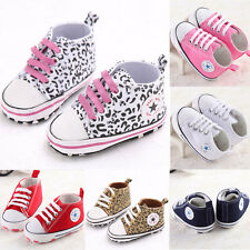NEW!Infant Toddler Baby Boy Girl Kid Soft Sole Shoes Sneaker Newborn 0-18MonthsF