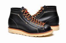 Thorogood Men's Boots Lace-To-Toe Roofer 814-6233 Black Oil-Tanned Leather