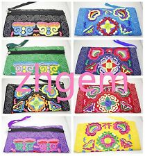 colorful Embroidery cloth women's handbags bags handmade bags Purses 4.3*8.2""