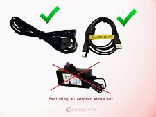 2-Pin AC Power Cable Fig 8&USB Cord For HP Officejet Pro Plus All-in-One Printer