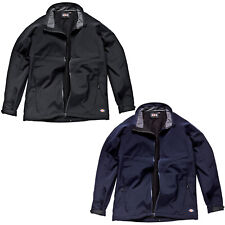 MENS DICKIES SOFTSHELL JACKET COAT SIZE S - XXXXL BLACK NAVY BLUE JW84950