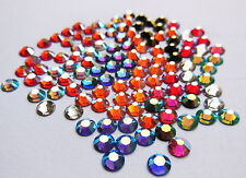 72 SWAROVSKI Foiled Flatback Crystals SS16 or 4mm - Special Colours & AB Coating