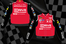 Jeff Gordon Nascar Driver Jacket Drive To End Hunger Jacket Red Black BLOWOUT
