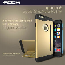 For iPhone 6 4.7 Plus 5.5 Tough Hybrid Armor Shockproof Slim Case Card Stand