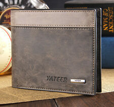 Leather Wallet ID Bifold Men's Business Credit Card Holder Purse Clutch Pockets