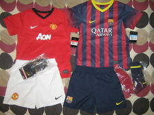 Nike Football Kit for boys MANCHESTER UNITED and BARCELONA ages 5-6 & 6-7 - BNWT
