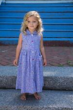 April Cornell HARRIET GIRL'S DRESS (Mommy) and ME Periwinkle 2015  NEW wTags