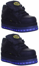 Buffalo 1339 femme plateforme punk goth bottes baskets taille LED allument chaussure EXC