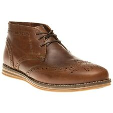 Red Tape Mayo Leather Brogue Ankle Boots Mod Desert/Chukka Tan Brown