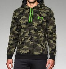 Men's Under Armour Rival Night Vision Hoodie #1262084 Camo Print Choose Size
