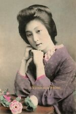 YOUNG JAPANESE BEAUTY Vintage Postcard Image Photo, Greeting Card Or Print JP031