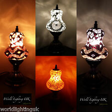 SALE FINAL FEW!! Turkish Tiffany Moroccan Mosaic Table Lamps - Multi listing