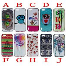 2 in 1 Hybrid Vintage Pattern Soft Gel TPU Bumper Case Cover for iPhone Samsung