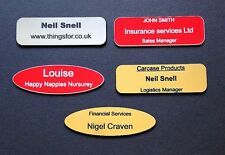 Engraved Name Badges ,personalised with your details