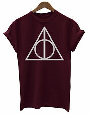 Harry Potter Inspired Deathly Hallows Logo Unisex Ladies Mens T-Shirt Sale BM200