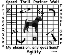 Jack Russell Terrier Dog Agility Course - My Obsession, Any Questions? T-shirt