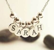 Sterling Silver Personalised NAME Necklace , Any word or Name