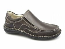 Dr Keller NEPTUNE Mens Leather Suede Padded Slip On Comfy Casual Shoes Brown New