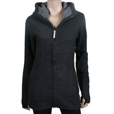 Bench Poehali Long Warm Fleece Jacket Women's Winter Black Jet Black