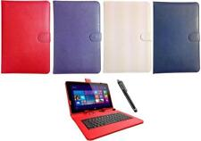 Keyboard Case Leather Cover Wallet Stand Folio for 10.1 inch Tablet + Stylus Pen