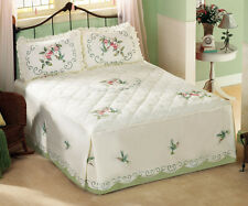 Collections Etc Floral Hummingbird Bedspread
