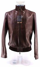 Men's Jacket DSQUARED Leather Brown Exclusive Luxury Made Italy Limited New