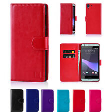 PU Leather Book Wallet Case Cover for HTC Phones + Screen Protector & Stylus