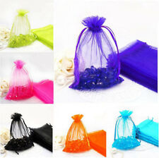 100Pcs Transparent Mesh Gift Bags Wedding Party Supply Candy Favor Jewelry Bags
