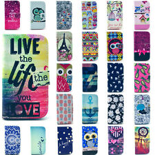 Hot Flip Stand Paint Magnetic Leather Wallet TPU Case Cover for HTC Moto Nokia