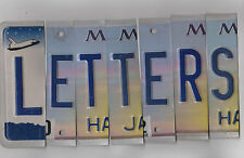 ***LEFT END*** MIXED COLOR License Plate Letters for Arts & Crafts Projects