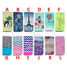Leather Wallet Chic Rubber Stand Card Flip Fitted Case Cover For Various Phones