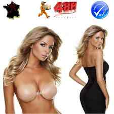 SOUTIEN-GORGE INVISIBLE FAUX-SEINS SILICON SILICONE AUTO-ADHESIF EFFET PUSH-UP