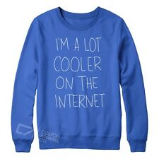 I'm Cooler On The Internet Sweater Funny New Mens Womens Tumblr Fashion S-XXL