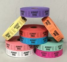 Roll of 1000 Admit One Tickets Carnival Fun Fair Festival Raffle Admit 1