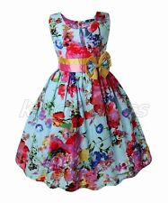 NEW Kid Flower Girl Pageant Wedding Bridesmaid Party Dress Blue 3-7 Years Z300