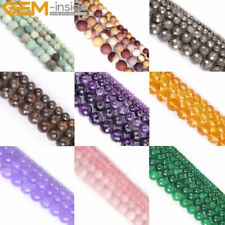 "Natural Stone Gemstone Beads For Jewelry Making 15"" Frost/Crackle/Spong/Faceted"