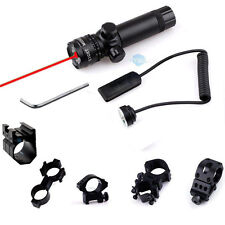 Tactical Red Laser Sight Scope Hunting w/ Pressure Switch Mount For Rifle Pistor