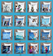 Disney Frozen Elsa Anna Olaf Sven Hans Pillow Case Cover Car Bed Sofa Cushion