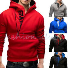 Stylish Men's Slim Warm Hooded Sweatshirt Zipper Coat Jacket Outwear Sweater