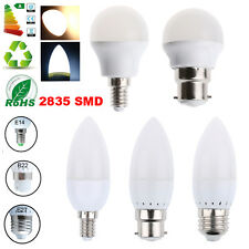 LED Bombillas E27 E14 B22 Candle Light Bulbs Globe Spotlight Lamp Blanco Focos