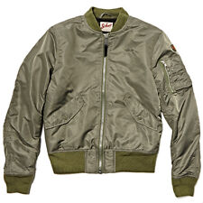 SCHOTT BROS NYC JKTAC AMERICAN COLLEGE MA1 BOMBER JACKET ARMY GREEN